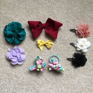 Bundle of Gymboree Barrettes & Hair Ties
